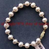 """Details about  /gorgeous 12-13mm south sea white round pearl bracelet 7.5-8/"""""""