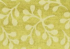6 Yds Robert Allen Leaf Berry Spring Chenille Lime Sand Upholstery
