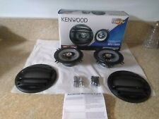 New Pair Kenwood KFC-1364S 150 Watt Flush Mount Vehicle Car Speakers 3 Way 5 1/4
