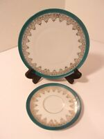 PM & M Bavaria Germany Imperial Crown Plate and Saucer Porcelain NO RESERVE