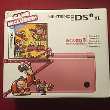Nintendo DSi XL Mario vs. Donkey Kong: Mini-Land Mayhem! Metallic Rose Bundle