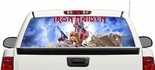 Iron Maiden Eddie and Pyramid rear window perforated graphic Decal Truck SUV