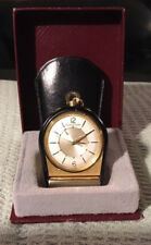 Jaeger LeCoultre Gold Plated Travel Clock