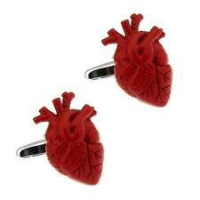 ANATOMICAL HEART CUFFLINKS Red NEW w GIFT BAG Doctor Surgeon Cardiologist Gift