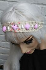 Mermaid Pearl Crown Pink Pearl Sea Shell Festival Head Band Lace Gobbolino