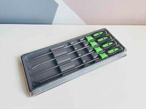 *NEW* Snap On 4-pc Green Instinct® Soft Grip Long Pick Set SGLASA204CG