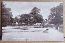 Old New Forest Village Street & Ford Scene Postcard - Brockenhurst Hampshire