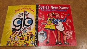 Little golden book SUSIE'S NEW STOVE The Little Chef's cookbook CORINNE MALVERN