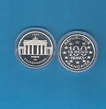Monuments d'Europe 15 écus/100 Francs en argent 1993 Porte de Brandebourg
