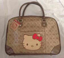 Hello Kitty Sanrio Bag Travel Tote Brown NWT