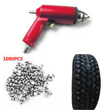 1000x Car Wheel Tire Stud Screw Spike Snow Nail JX8 + Air Gun Installation Tool