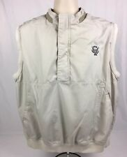 USGA 1894 Gear For Sports Wind/Water Resistant 1/4 Zip Lined Golf Vest Tan Sz L