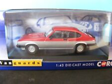Corgi Va10817 Ford Capri Mk3 1.6 Calypso in Cardinal Red & Strato Silver 1 43
