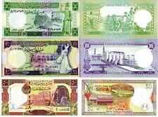 SIRIA - Syria Lot Lotto 3 banconote 5/10/50 pounds 1991-98 FDS - UNC
