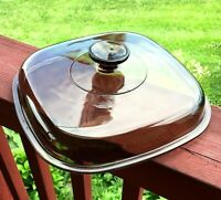 """Corning Ware Pyrex Amber A-12-C Replacement Glass Lid 10"""" Square Casserole"""