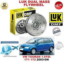 for VW TOURAN MPV 1T1 1T2 1.9 TDI 2003 + ORIGINALE LUK DMF DOPPIO MASSA VOLANO