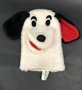 1973 Vintage BIG MOUTH White Dog Knickerbocker Hand Puppet RARE