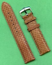 Rolex Steel Buckle & 19mm Genuine Brown Snake Skin MB Strap Band Leather Lined