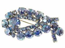 Vintage Blue Aurora Borealis Brooch 1950S Brilliant