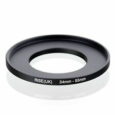 RISE(UK) 34mm to 55mm 34-55 34mm-55mm Stepping Step Up Filter Ring Adapter Metal