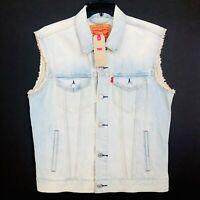 Levis Jayden Trucker Vest Button Up Blue 72887-0014 NEW  M, L, XL, 2XL, 3XL