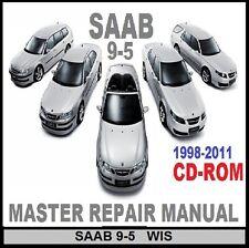 SAAB 9-3  9-5 1998 TO 2011 ALL MODELS MASTER WORKSHOP REPAIR MANUAL CD
