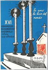 CARTOLINA d'Epoca - CATANIA Città - PUBBLICITARIA : Congresso Eucaristico 1959