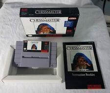 CHESSMASTER SNES SUPER NINTENDO VIDEO GAME COMPLETE IN BOX GOOD CONDITION