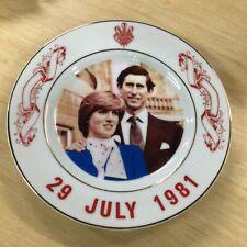 1981Meir Royal Wedding Souvenir China Plate. Made in Tatung Taiwan with Box #413