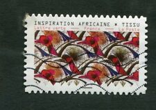 Timbre FRANCE oblitéré YT n° AA 1665 - INSPIRATION AFRICAINE : TISSU - 2019