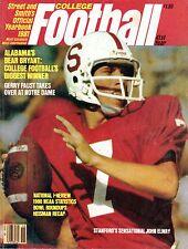 1981 Street & Smith's College Football magazine, John Elway, Stanford ~ Good
