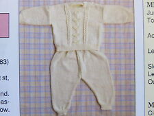baby/ toddler  knitting pattern jumper and pants 4 ply