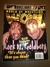 The Rock Dwayne Johnson & Goldberg Autograph Signature Signed WWE WOW Magazine