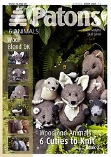 Patons Knitting Patten Book 2 3825 knitted Woodland Animals + free needles