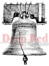 Deep Red Rubber Stamp Liberty Bell