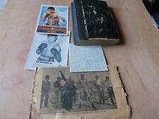 JOB LOT OF VINTAGE BOXING MEMORABILIA SIGNED POSTCARDS WITH 1094s NOTEBOOK