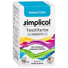 SIMPLICOL Textilfarbe EXPERT SÜDSEE TÜRKIS 150g Farbe auch für Wolle & Seide