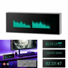 New Music Spectrum Display Analog Vu Meter Vfd Clock Sound Level Indicator Mic