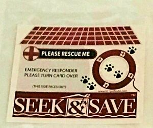 Four Dog Emergency First Responder Reflective Window Decal  Save Your Pets