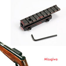 11mm Dovetail Extension to 21mm Picatinny Adapter Base Riser Rail Scope Mount