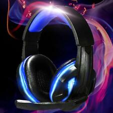 PRO USB +3.5mm Surround Stereo Gaming Headset Headband Headphone LED &Mic for PC