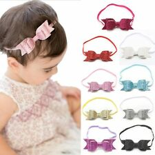 PINK Girls Baby Headband Bow Flower Hair Band Accessories Headwear Elastic Gift