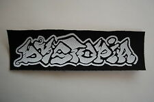 """Dystopia Cloth Patch Sew On Badge Crust Punk Rock Music Doom Appx 7.5""""X2"""" (CP24)"""