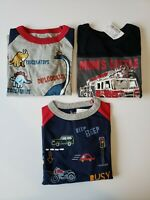 Lot 3 The Children's Place TCP Toddler Boys 12 18 Mo Long Sleeve Shirts NEW