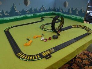 TYCO slot car set, HO scale, 3 cars
