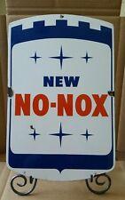 GULF NO NOX GASOLINE PORCELAIN PUMP PLATE SIGN