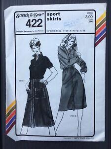 Vintage Stretch & Sew #422 SPORT SKIRTS Pattern New Uncut 30-46