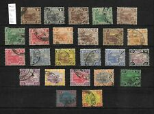 Federated Malay States 1922  Tiger wmk Mult Script CA, selection used (M420)