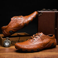Fashion Men Soft loafers Leather business Casual Octopus Moccasins Driving Shoes