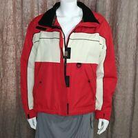 Vintage Obermeyer Women's Ski Jacket Ladies Size 12 Red & Ivory